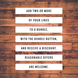 Other - Bundle your likes and get a discount.